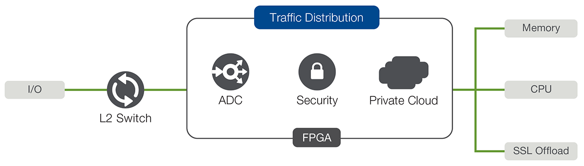 BIG-IP iSeries  architecture uses FPGA technology