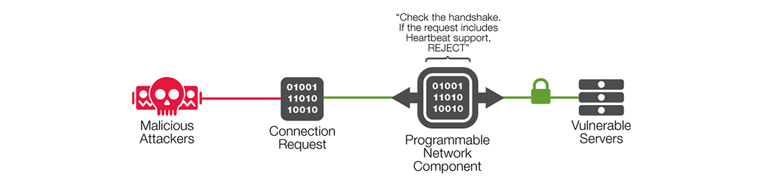 Figure 7: Programmatically defending against Heartbleed.