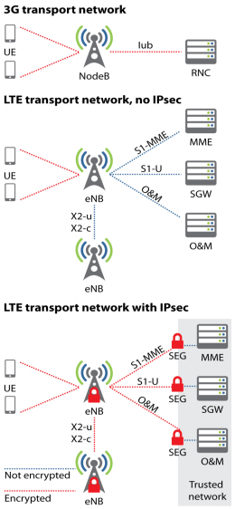 Wireless security in LTE Networks